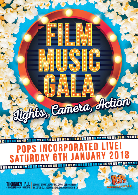 pops film music gala, pops incorporated, southampton pops orchestra, pops orchestra, film soundtracks