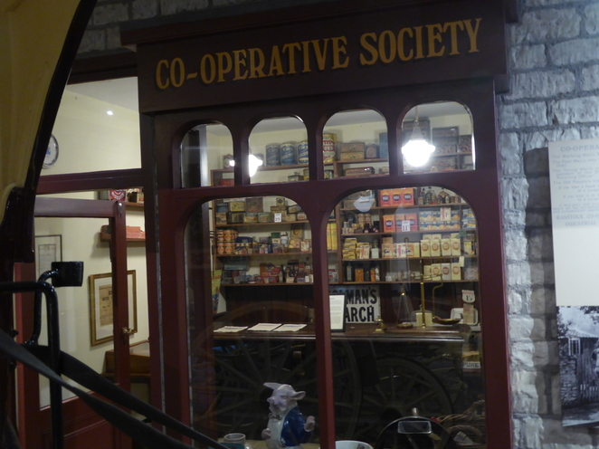A recreation of a Co-operative shop