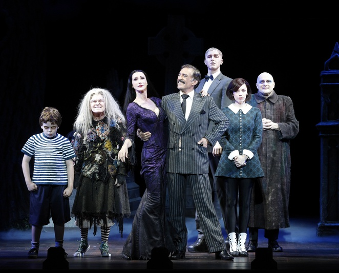 Addams family musical, uk tour, Birmingham hippodrome