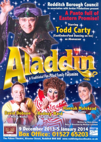Aladdin, Redditch, Todd Carty