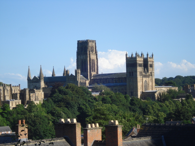 Durham Cathedral Towers over the Town