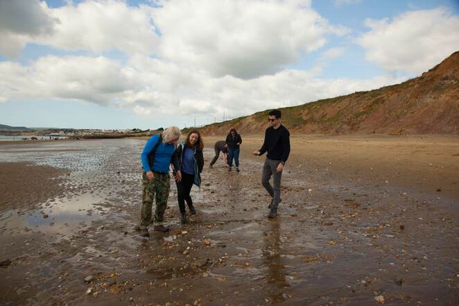 Fossil Hunting in the Shingle on Yaverland Beach