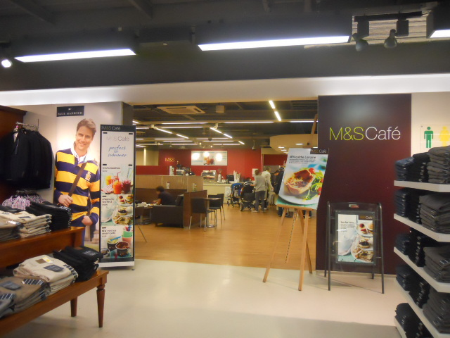 m&s, marks and spencer's, cafe