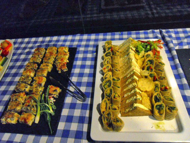 party, disco, wimbledon racquets & fitness, Sandwiches, wraps, mini quiches, buffet