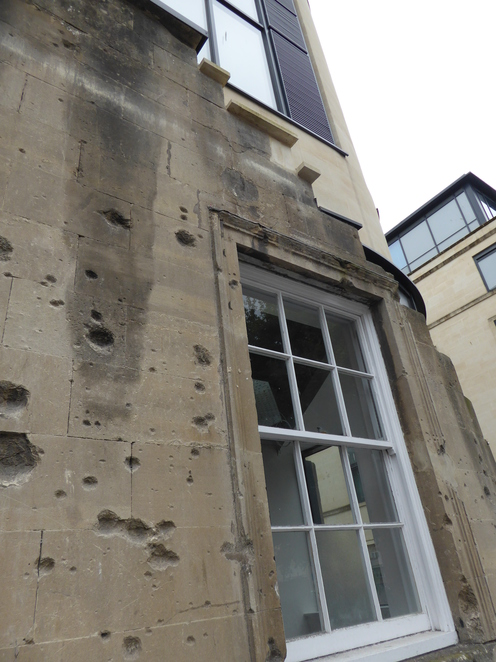 Shrapnel damage