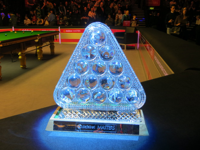trophy, masters, snooker, alexandra, palace, ally, pally