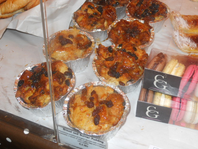 borough market, Comptoir Gourmand, bread and butter pudding