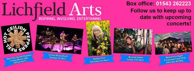 Festivals, Concerts, Live Bands, Music, Weekend, Blues, Jazz, Lichfield