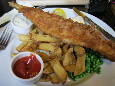 Fish & Chips, eagle, cambridge, pub