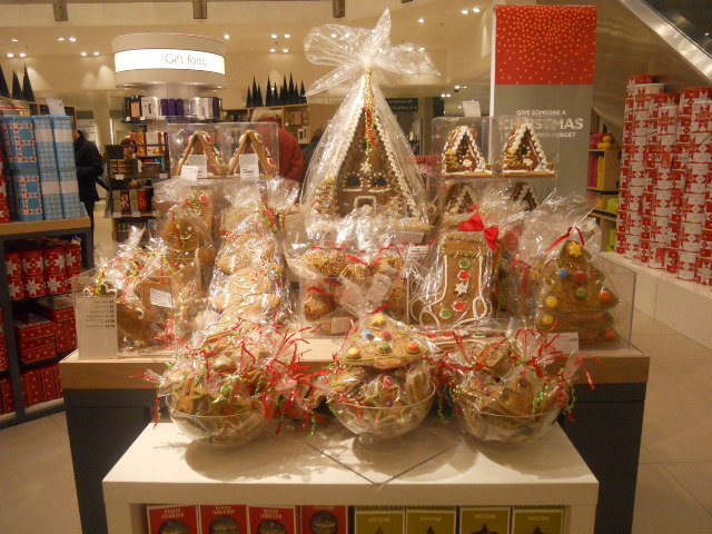 john lewis, christmas, gingerbread man, gingerbread house