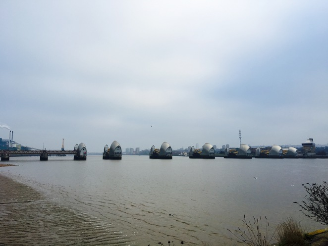 London, Thames Barriers, River, thames, Free