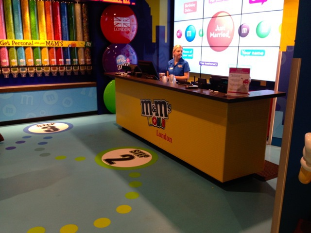 m&M's, chocolate, candy, leicester square, london, colours, merchandise, kids, fun, 4-storey, bright, personalise, flavours