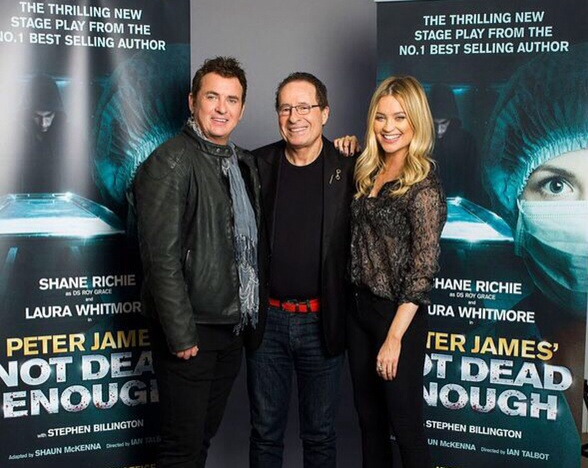 Not dead enough, Peter James UK tour, Shane richie, Laura Whitmore