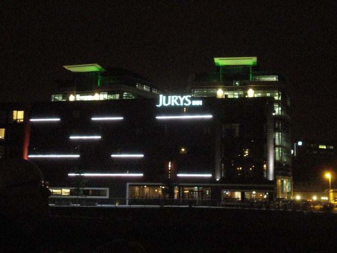 Jury's Inn in lights