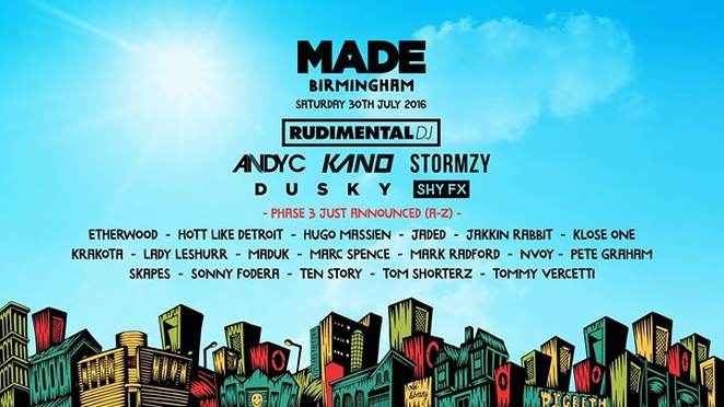 MADE Birmingham, best summer festivals around Birmingham, Digbeth, dance, DJs