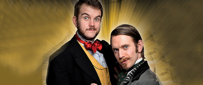 morgan and west time travelling magicians, magic show, salisbury playhouse, the salberg, morgan and west, card tricks, family theatre