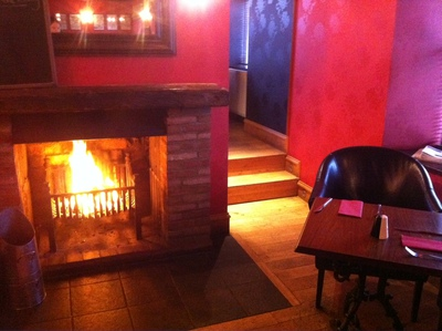 Open Fire, Log burning fire, real fire, The Stag, Forfar, Angus