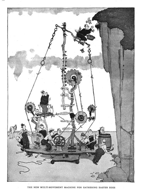 heath robinson, illustrator, art gallery, mottisfort, exhibition, dreams and machines