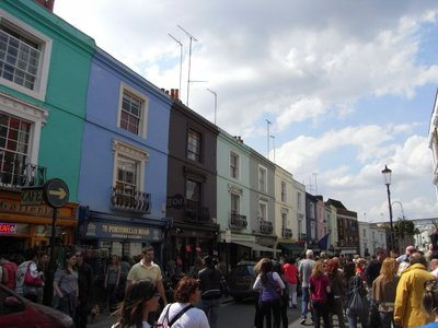 Portobello Road market (writers own photo)