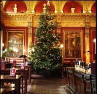 Old Joint Stock theatre, candlelight, Christmas, festive, pub