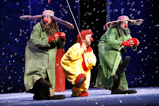 slava's snowshow, christmas, circus, clowns, royal festival hall