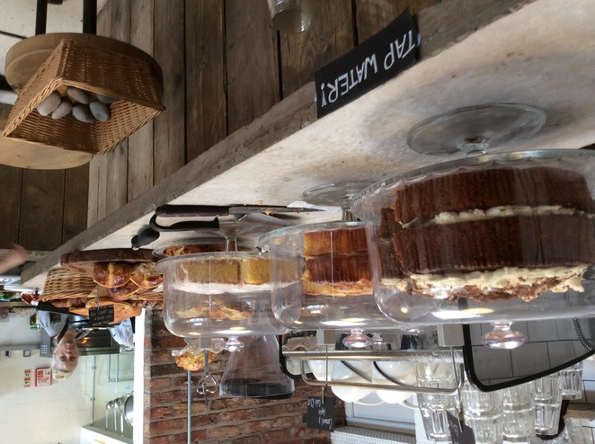 The Yard, Alderley Edge, cake table, pastries
