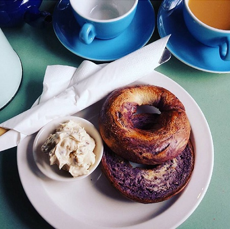 blueberry swirl bagel breakfast brunch
