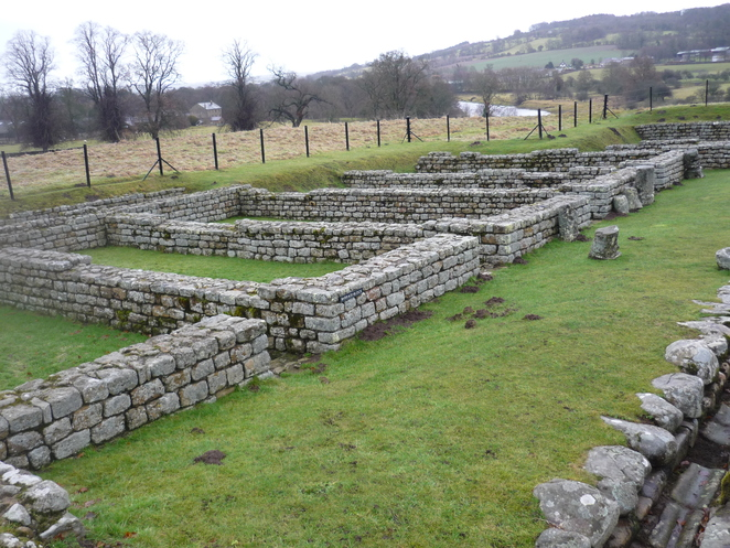 chesters, roman, fort, hadrians, wall