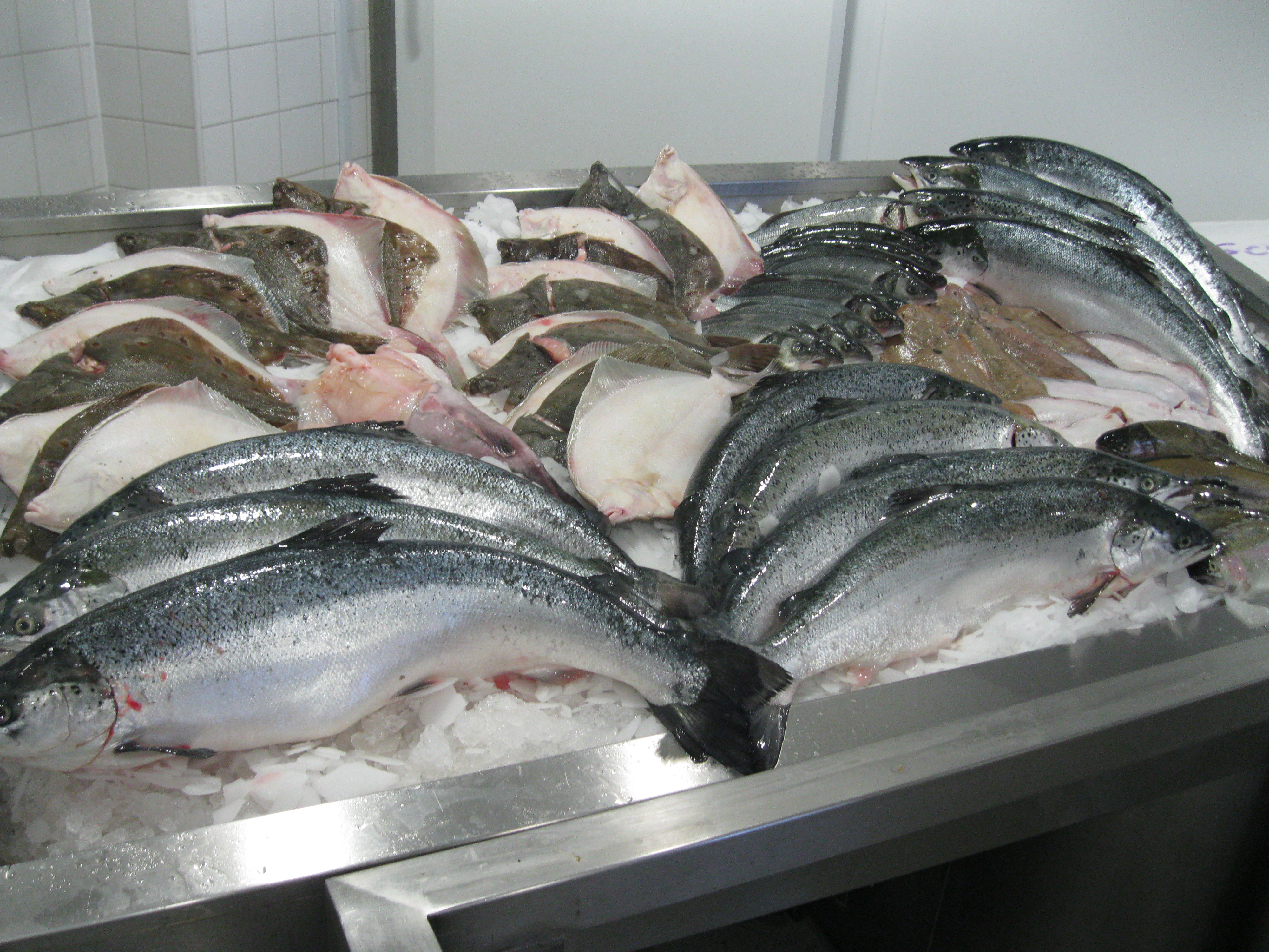Billingsgate fish market and seafood school london for Fresh fish market near me