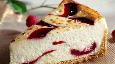 Raspberry Creme Brulee Cheesecake (Image Courtesy of the Website)