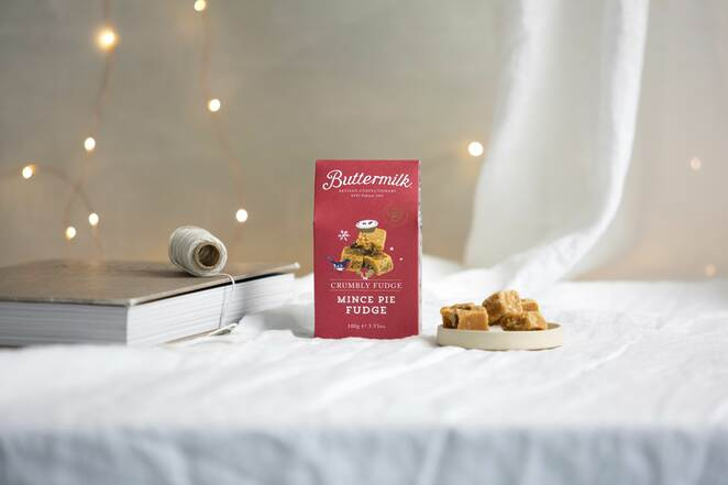 buttermilk mince pie fudge, artisan christmas food and drink