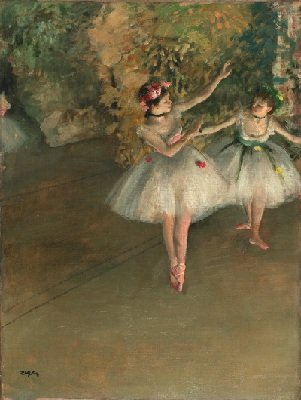 Degas: Two Dancers on a Stage