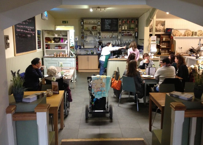 Hartley Farm Shop and Cafe seating area