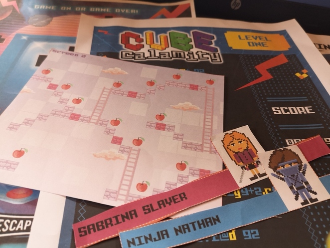 Level Up, Escape Hunt, review, play at home, Weekend Notes, Alison Brinkworth