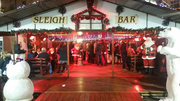 Sleigh Bar, Christmas, Bar, Mulled Wine, Cider, Wine, Spiced