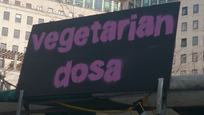 Vegetarian dosa, Indian street food,Alchemy festival, south bank centre, London