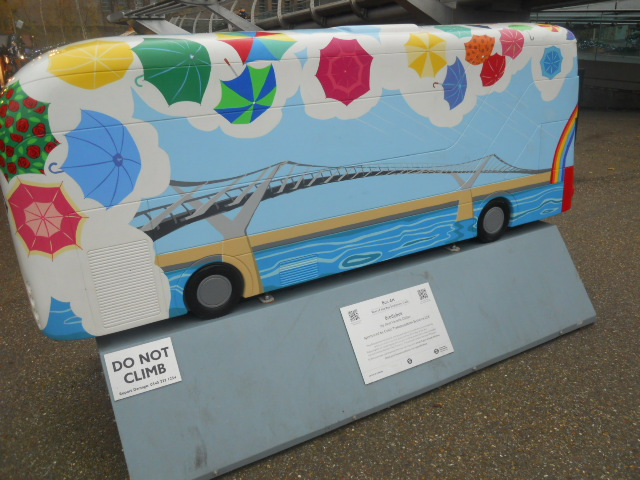 boris bus, bus trail, sculpture trail, brollybus, Jane Veveris Callan