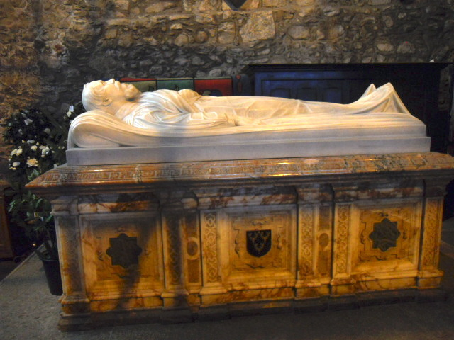 cartmel priory, st mary, st michael, tomb