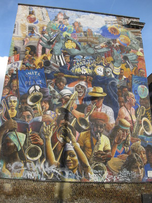 Hackney Peace Carnival Mural Ray Walker Dalston