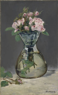 Manet: Moss Roses in a Vase