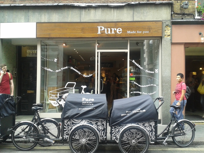 Pure cafe, Soho, cafe, lunch