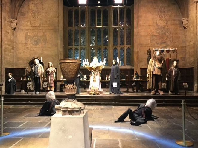 Warner Bros. Harry Potter Studio Tour, Leavesden Studio, Fred Weasley, George Weasley, age line, ageing potion
