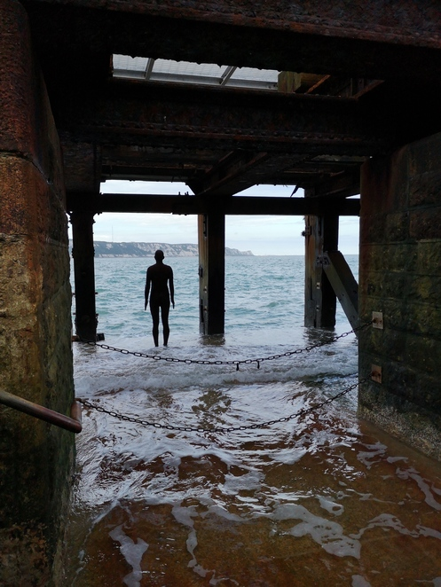 Anthony Gormley Folkestone statue
