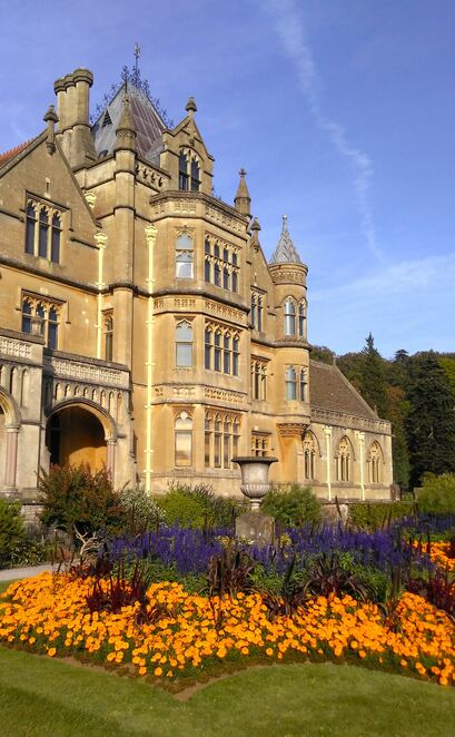 gardens,terraced,lawns,tyntesfield,somerset,england