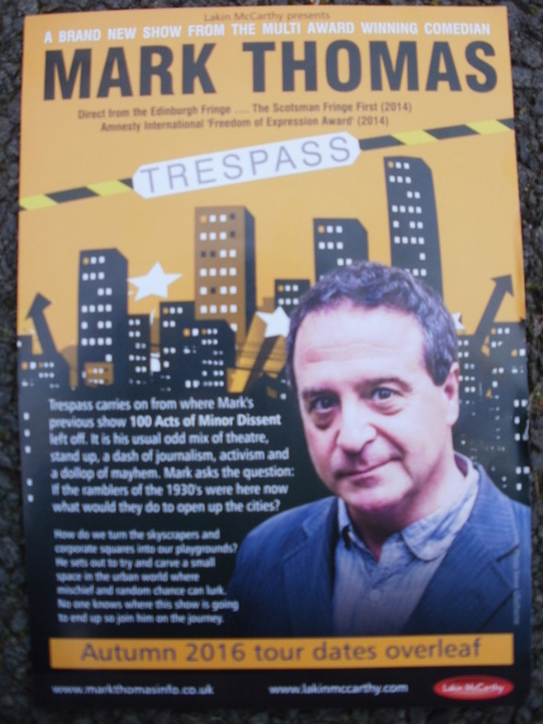 Mark Thomas flyer