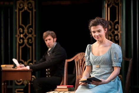 pride and prejudice, birmingham rep, Darcy and Elizabeth Bennet