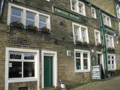 The Fleece Inn, Haworth, Halifax, North Yorkshire, Bronte, Pub, Sign