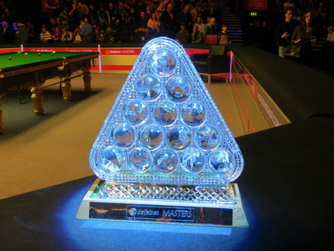 trophy, masters, snooker, ally pally, alexandra palace
