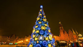 Christmas Tree in Newcastle City Centre