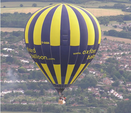 cornbury festival, hot air balloon
